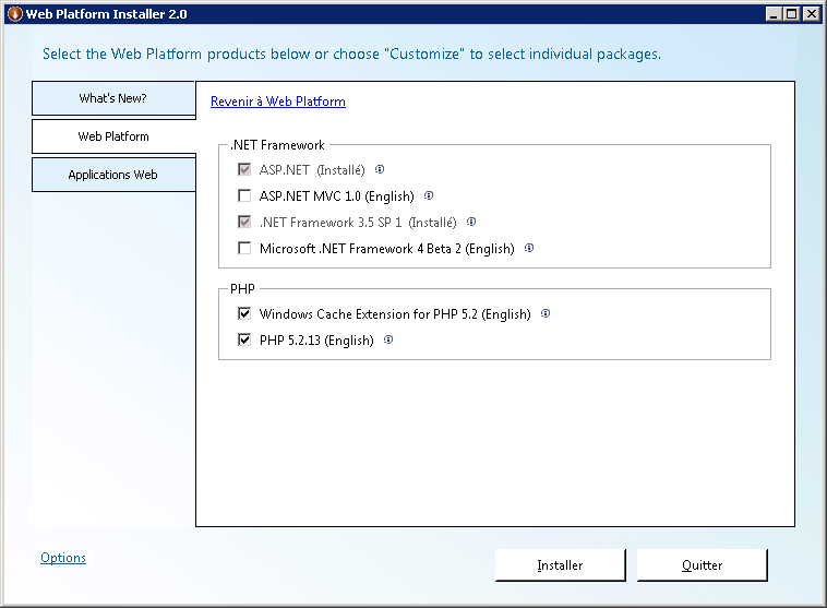 module php iis installer